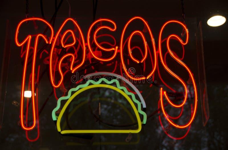 Néon de Tacos photos libres de droits