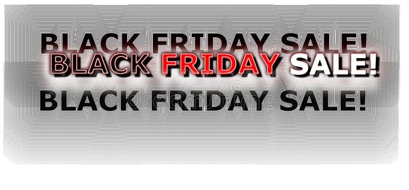 Néon digital da bandeira da compra de Black Friday colorido em vermelho e em branco ilustração stock