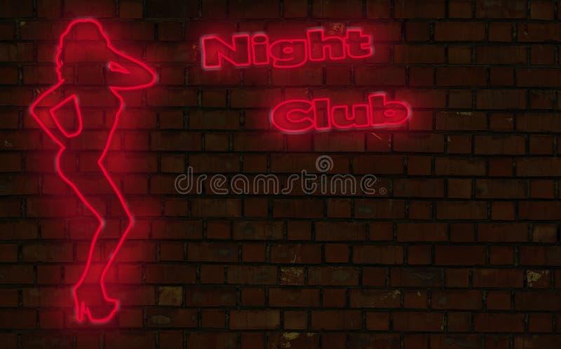 Néon do clube nocturno ilustração royalty free