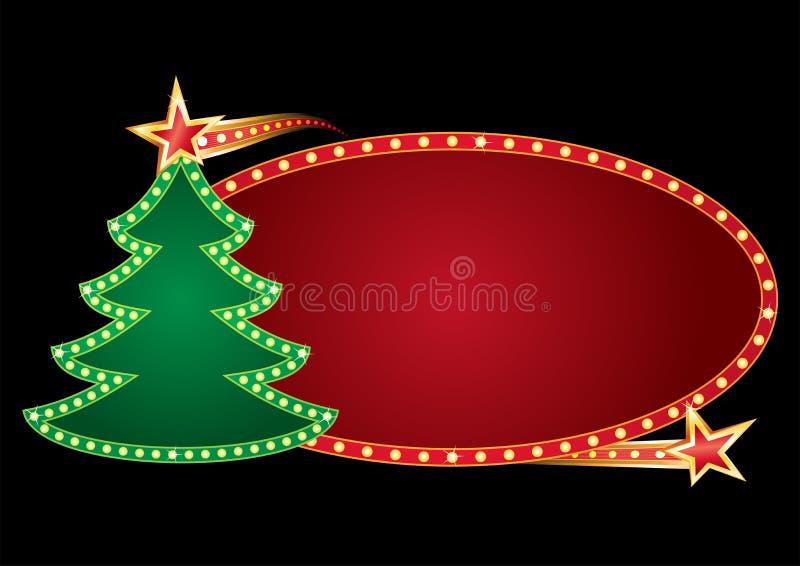Néon do Natal ilustração stock