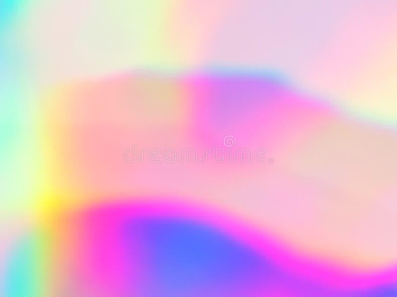 Néon holográfico e cores pastel ilustração do vetor