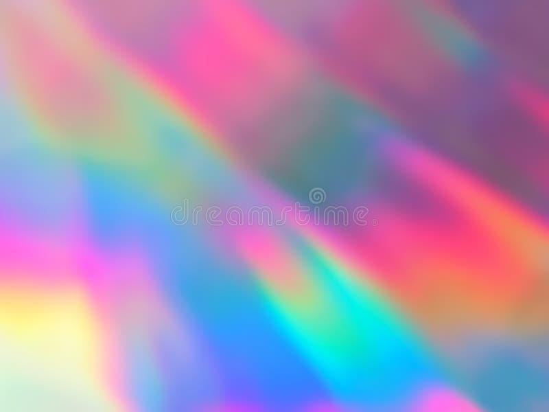 Néon holográfico e cores pastel ilustração royalty free