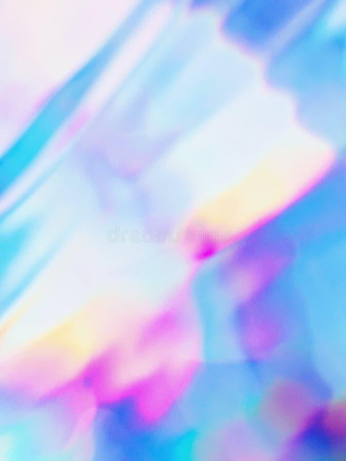 Néon holográfico e cores pastel ilustração stock