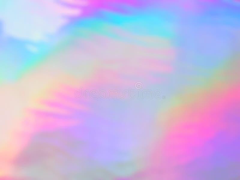 Néon olographe et couleurs en pastel illustration stock
