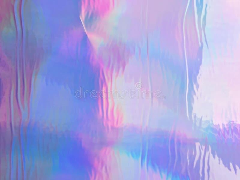 Néon olographe et couleurs en pastel photographie stock