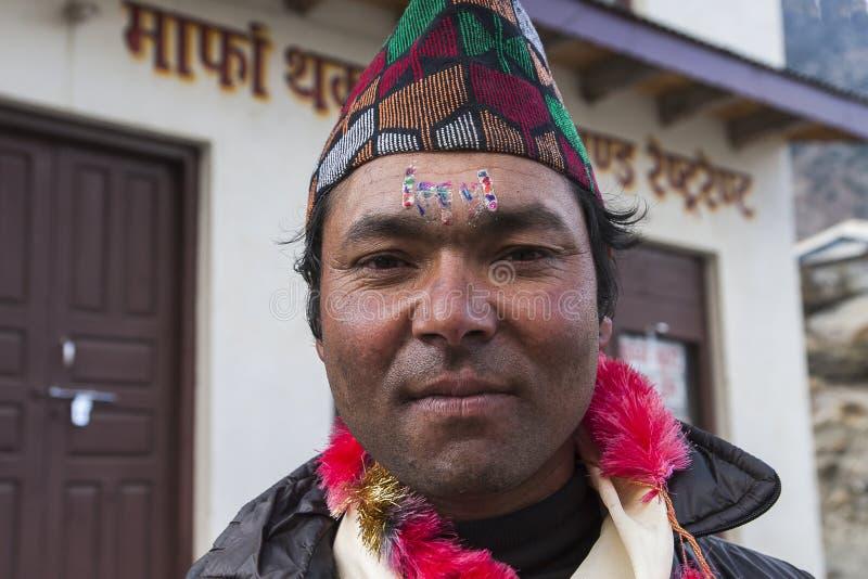 Népalais pendant l'un des festivals photographie stock