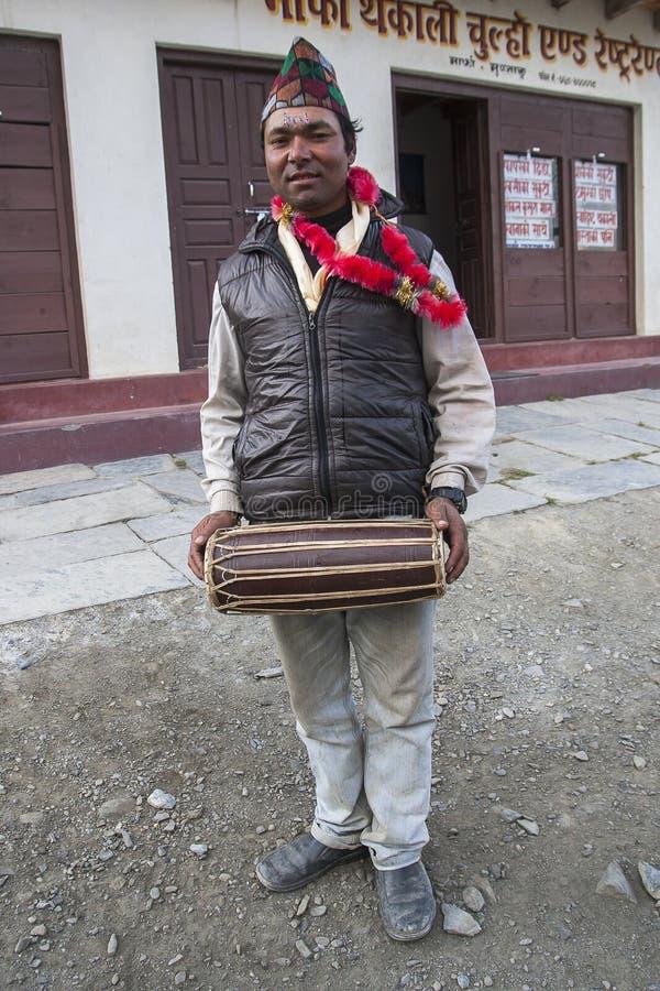 Népalais pendant l'un des festivals image stock