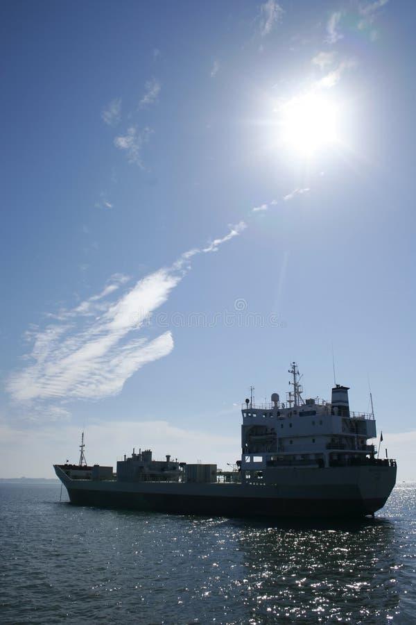 Névoa 02 do transporte do petróleo da carga do navio imagens de stock royalty free