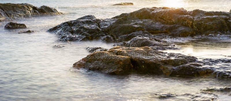 Névoa bonita do mar fotografia de stock