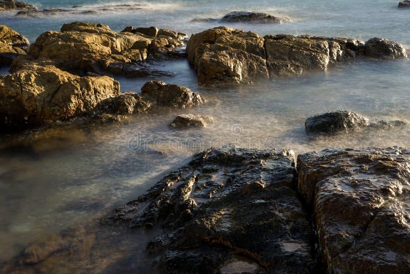 Névoa bonita do mar foto de stock royalty free