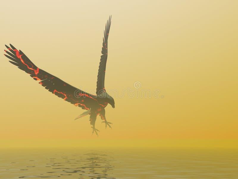 Névoa da águia do incêndio ilustração royalty free