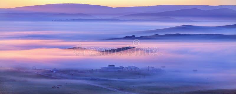 A névoa da manhã imagens de stock