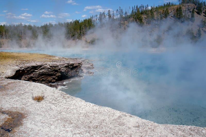 Névoa do geyser das maravalhas fotos de stock