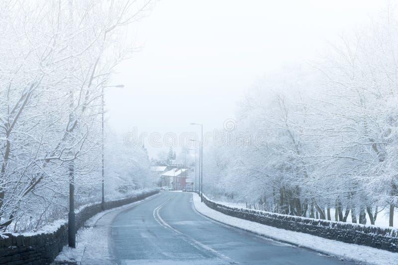 Névoa e neve britânicas do campo fotos de stock