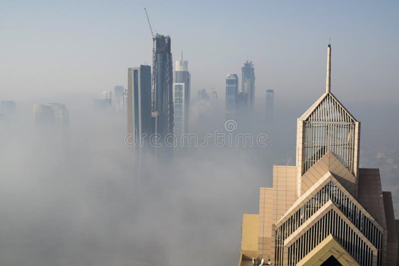 Névoa em Dubai imagem de stock