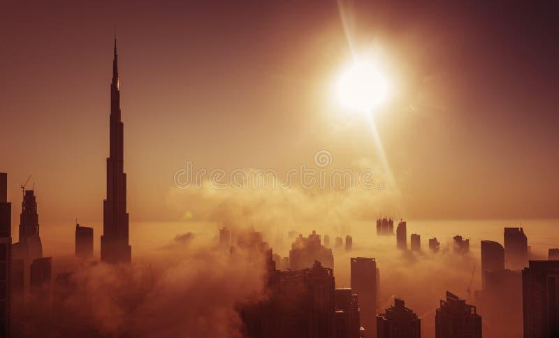 Névoa em Dubai fotografia de stock royalty free
