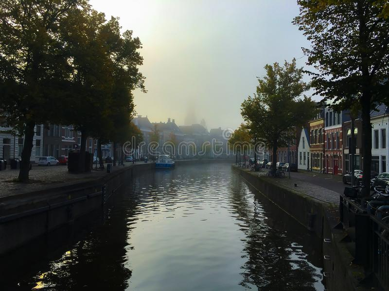Névoa em Groningen fotos de stock