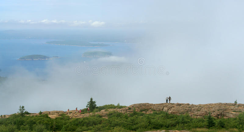 Névoa no parque nacional do Acadia foto de stock royalty free