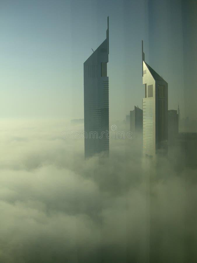Névoa pesada em Dubai fotografia de stock royalty free