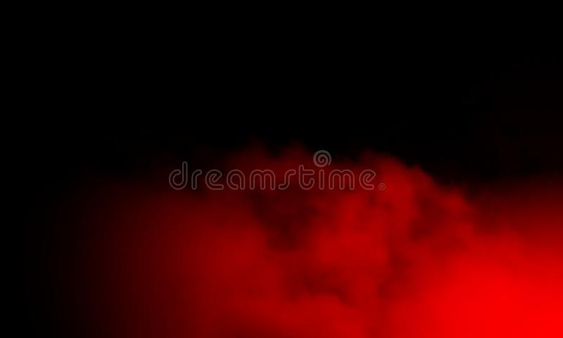 Névoa vermelha abstrata da névoa do fumo em um fundo preto fotos de stock