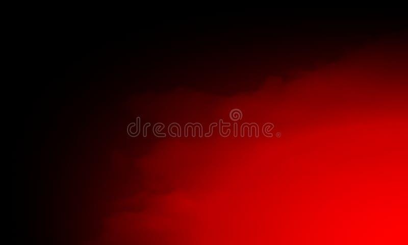 Névoa vermelha abstrata da névoa do fumo em um fundo preto textura, isolada foto de stock