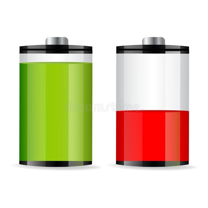 Níveis da bateria ilustração stock