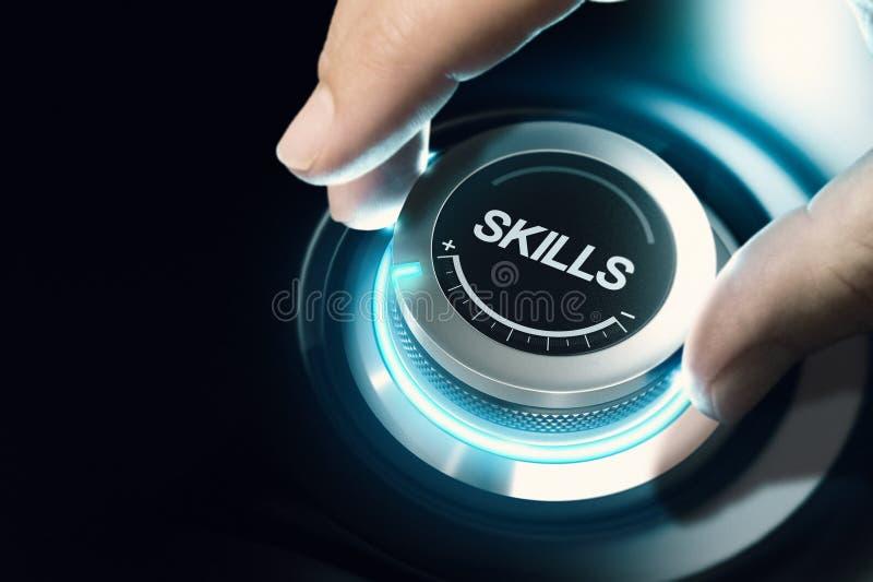 Nível de habilidade alta, conceito do treinamento profissional ilustração royalty free