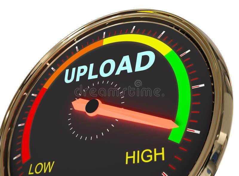 Nível de medição da transferência de arquivo pela rede ilustração stock