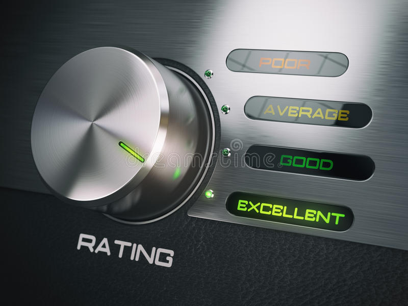 Nível de serviço de qualidade, satisfação, conceito da lealdade do cliente ilustração royalty free