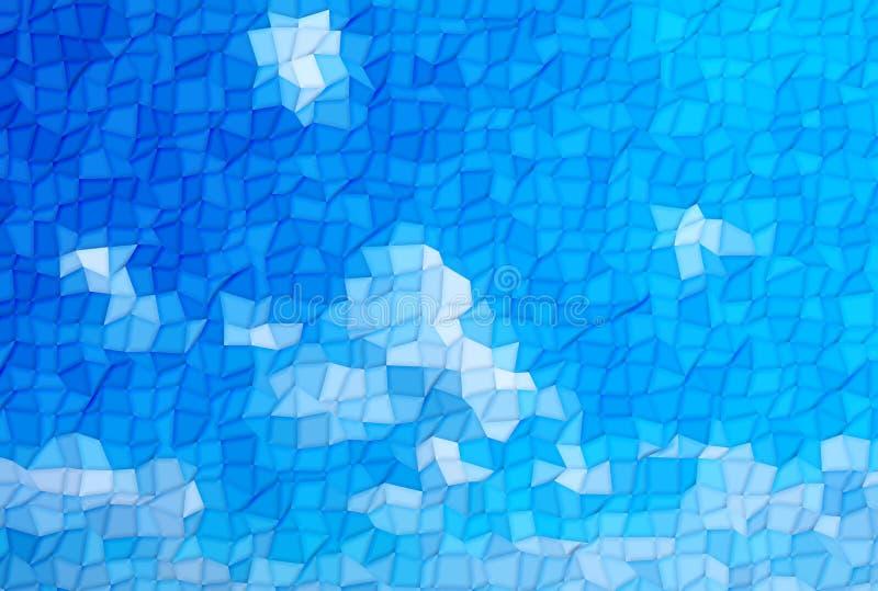 Nível profundo abstrato da cor da onda da listra do teste padrão azul e branco para o fundo ilustração royalty free