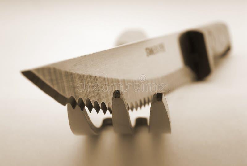 nóż, widelec obrazy stock