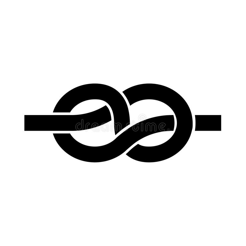 Nó é ícone preto ilustração do vetor