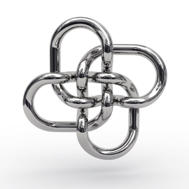 Nó complexo das tubulações do metal ilustração stock