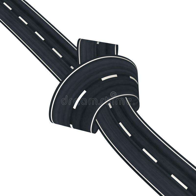 Nó da estrada ilustração do vetor