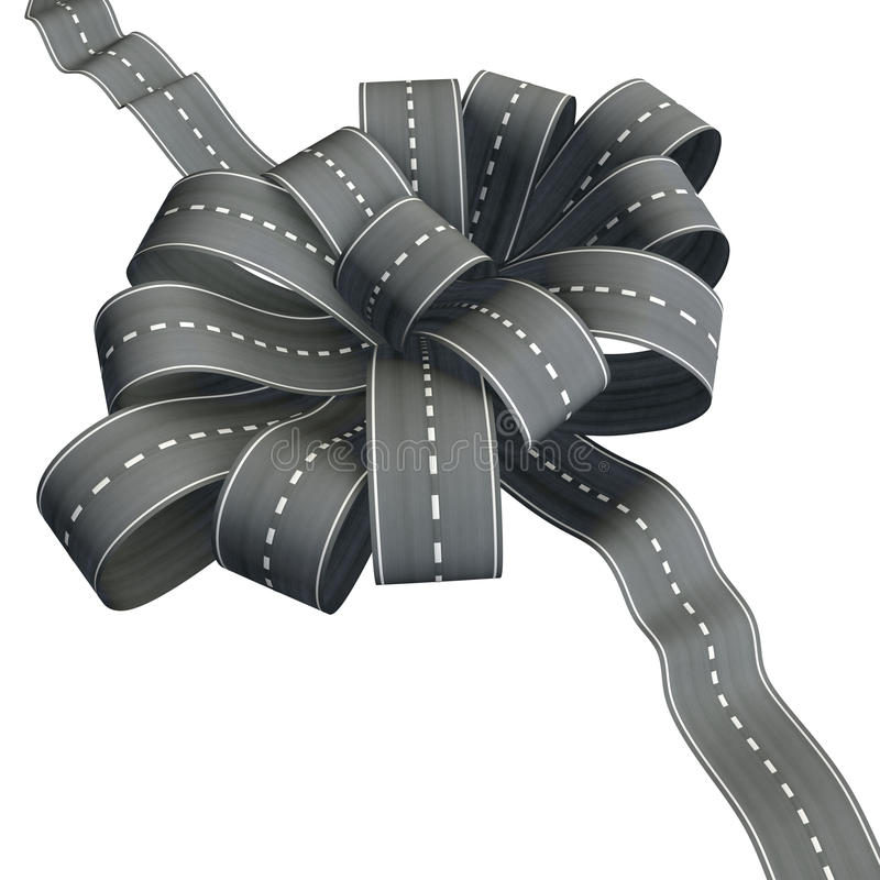Nó da flor da fita da estrada ilustração stock