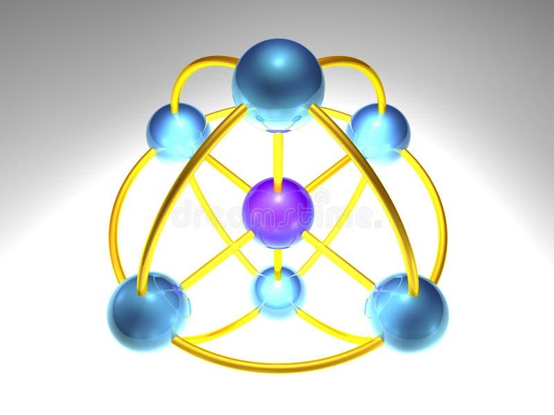 nó de rede 3D ilustração do vetor