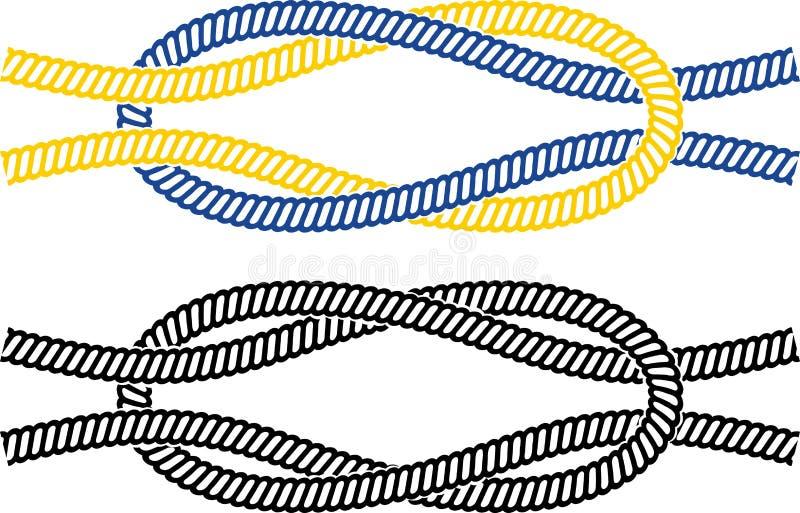 Nó marinho simples ilustração stock