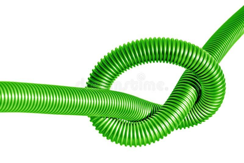 Nó no tubo plástico verde imagem de stock royalty free