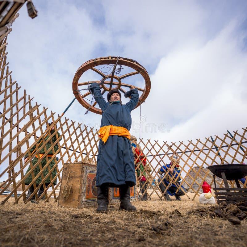 Nómada mongol imágenes de archivo libres de regalías