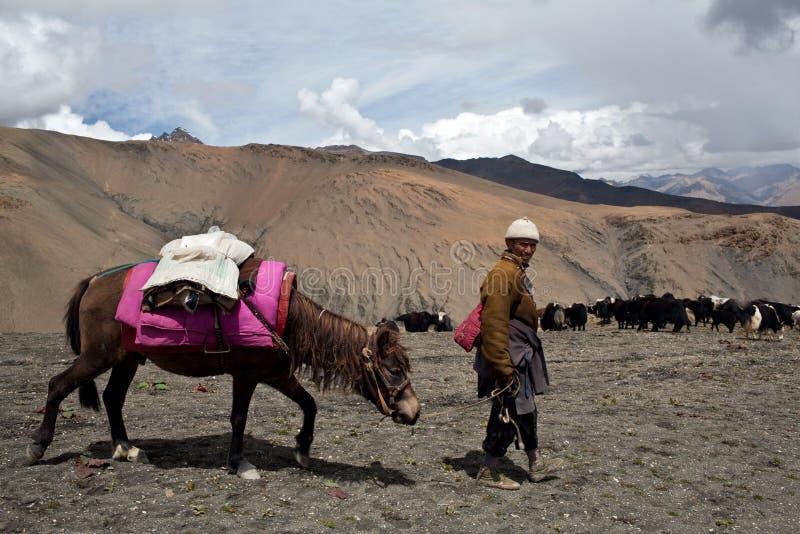 Nómada tibetano fotos de archivo