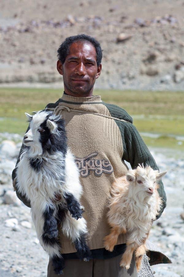 Nómada tibetano, Ladakh foto de archivo libre de regalías