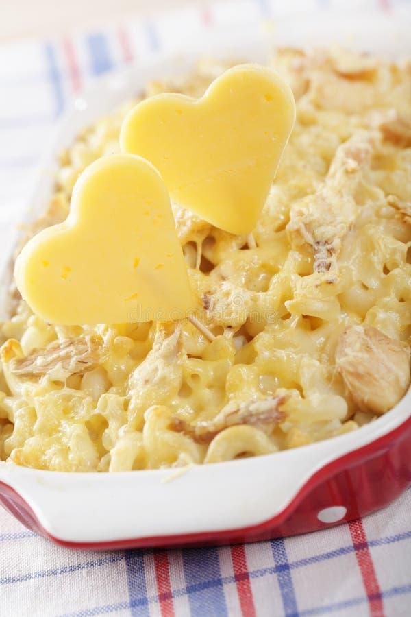 Nós amamos o macarrão e o queijo fotografia de stock royalty free