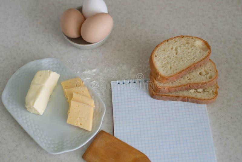 Nós cozinhamos um grande café da manhã fotografia de stock