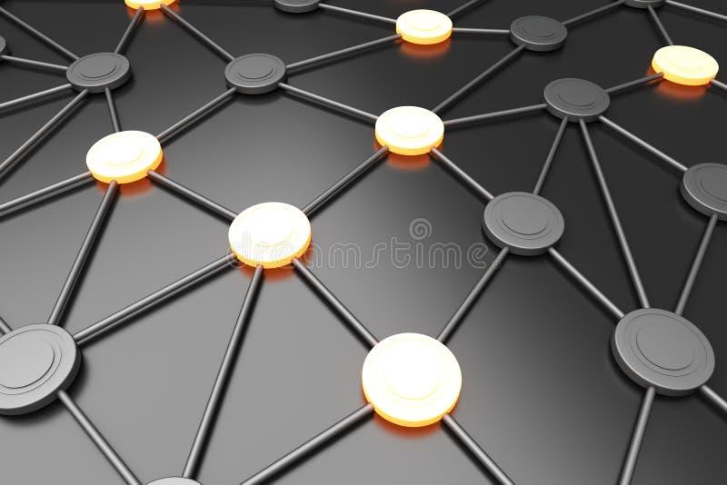 Nós de rede ilustração stock
