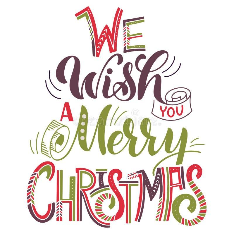 Nós desejamos-lhe o Feliz Natal ilustração do vetor