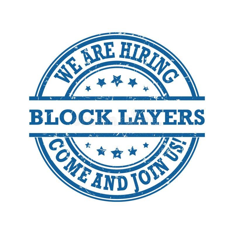 Nós estamos contratando camadas do bloco - selo/etiqueta ilustração do vetor