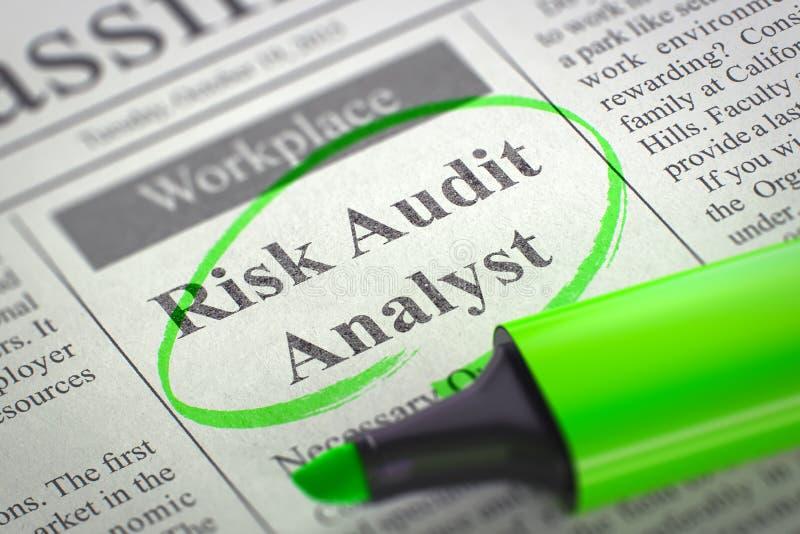 Nós estamos contratando o analista 3D da auditoria do risco ilustração do vetor