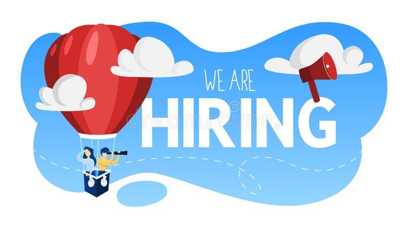 Nós estamos contratando Povos que procuram um candidato de trabalho ilustração stock