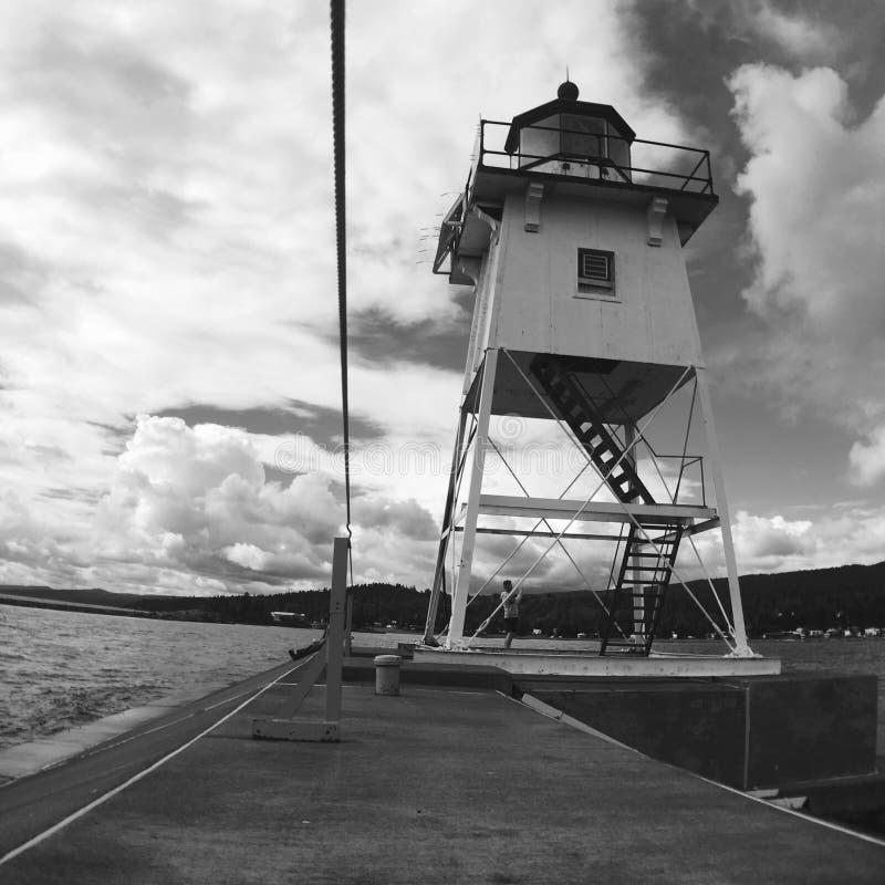 Nós guarda costeira Lighthouse imagens de stock royalty free
