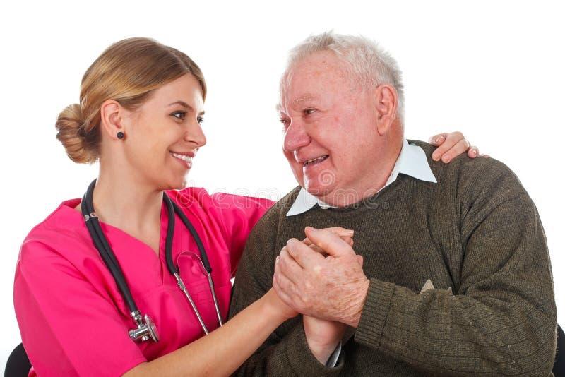 Nós importamo-nos com nossos pacientes foto de stock royalty free